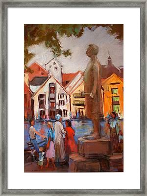 Stavanger Statue Framed Print by Joan  Jones