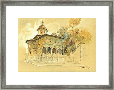 Stavropoleos Church Framed Print