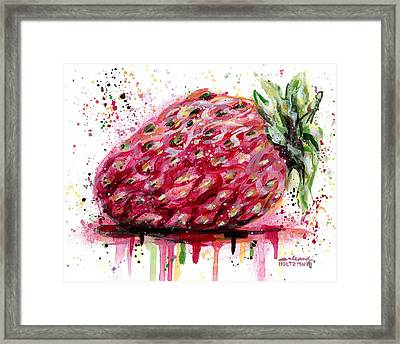 Stawberry 1 Framed Print by Arleana Holtzmann