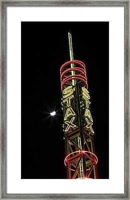 Stax Records Tower And Moon Framed Print by Stephen Stookey