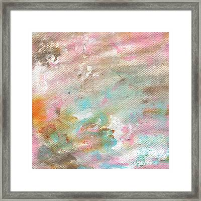Stay- Abstract Art By Linda Woods Framed Print