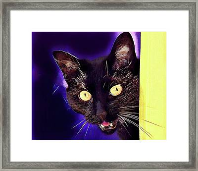 Stay Away From Me Framed Print