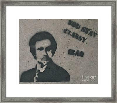 Stay Classy Iraq Framed Print