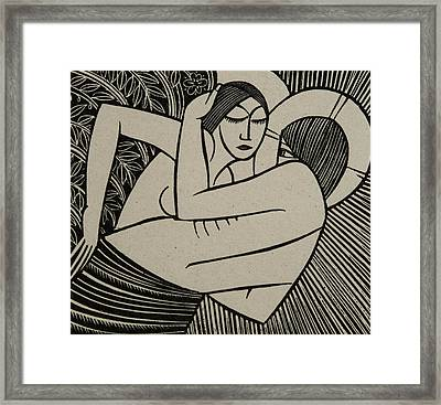 Stay Me With Apples Framed Print by Eric Gill