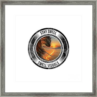 Stay Swell Design Black Framed Print by Russ LaScala