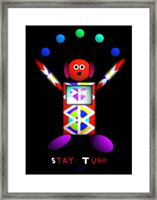 Stay Tooned Framed Print by Charles Stuart