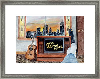 Stay Tooned Framed Print by Monte Toon