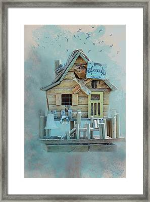 Staying At The Yacht Club Framed Print