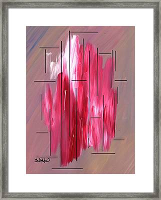 Staying Between The Lines Framed Print by Barbara St Jean