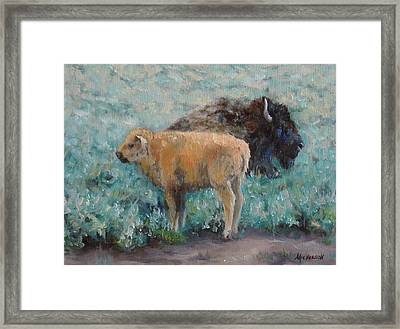 Staying Close Framed Print by Debra Mickelson