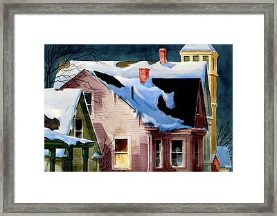 Staying In Framed Print by Art Scholz