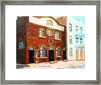 St.dominique Street Synagogue Framed Print by Carole Spandau