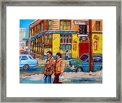 Ste. Catherine Street Montreal Framed Print