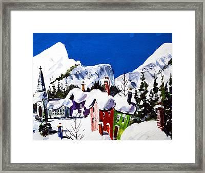 Ste.adele Quebec Framed Print