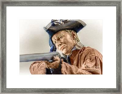 Steady Aim Milita Soldier Framed Print by Randy Steele
