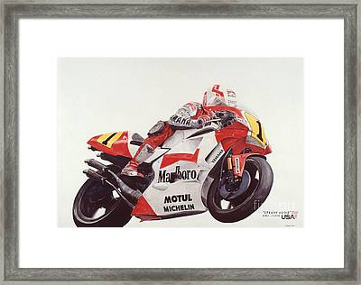 Steady Eddie Framed Print