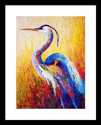 Heron Framed Prints