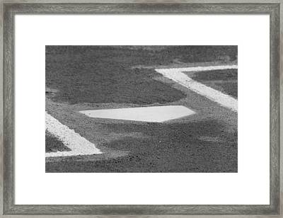 Framed Print featuring the photograph Stealing Home by Laddie Halupa