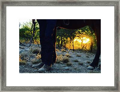 Stealing Sun Framed Print