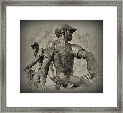 Stealing Third Framed Print