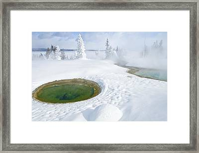 Steam And Snow Framed Print