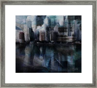 Steam City Framed Print