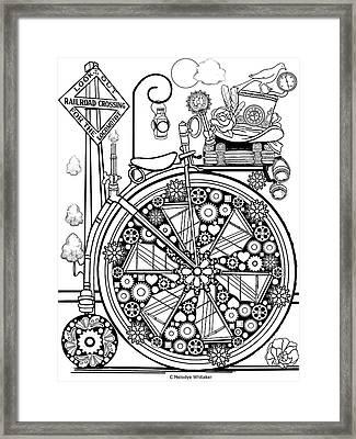 Steam Cycle Framed Print
