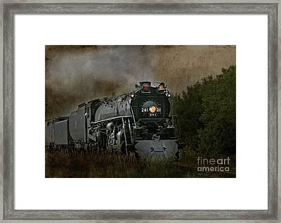 Steam Engine 261 Framed Print