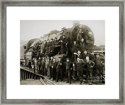 Steam Engine 351 On Turntable Coxton Yards Coxton Pennsylvania Early 1900s Framed Print