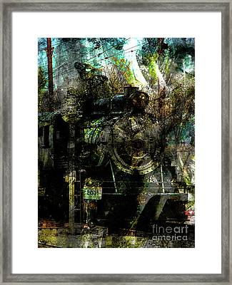 Steam Engine At Bay Framed Print by Robert Ball
