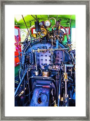 Steam Engine Controls Framed Print