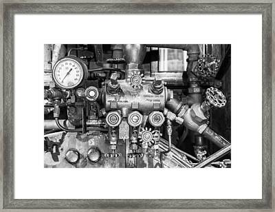 Steam Engine Controls Framed Print