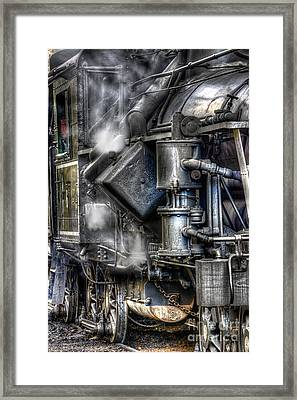 Steam Engine Detail Framed Print by Jerry Fornarotto