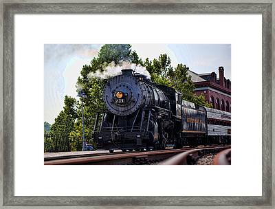 Steam Engine Of Cumberland Framed Print by Christina Durity