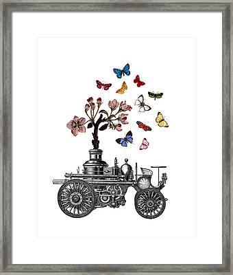 Steam Engine Of Life Framed Print