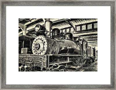 Framed Print featuring the photograph Steam Engine Train 1925 Lima Locomotive Bw by Dan Carmichael