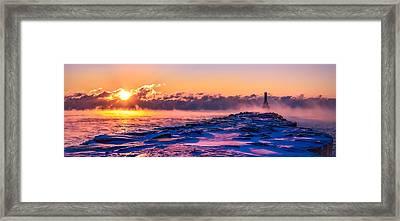 Steam Fog Two Panorama Framed Print