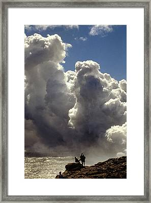 Framed Print featuring the photograph Steam From Hot Lava by Carl Purcell