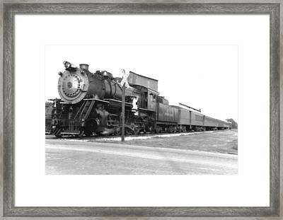 Steam In Motion Framed Print