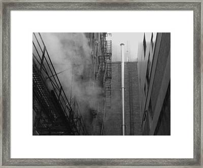 Steam In The Alley 4 Framed Print