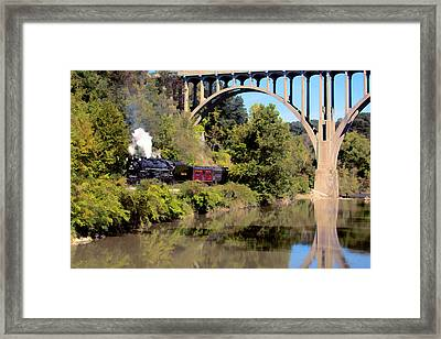Steam In The Valley Framed Print by Donna M Bungo