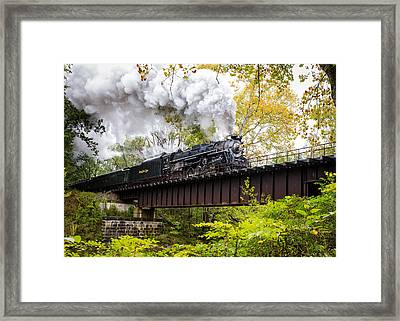 Steam In The Valley II  Framed Print