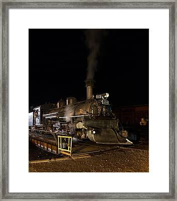 Framed Print featuring the photograph Locomotive And Coal Tender On A Turntable Of The Durango And Silverton Narrow Gauge Railroad by Carol M Highsmith