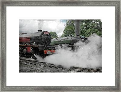 Steam Locomotive Drama Framed Print by David Birchall