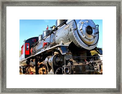 Steam Locomotive Engine 1215 . 7d12980 Framed Print by Wingsdomain Art and Photography