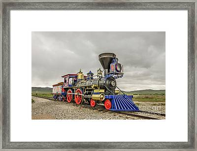 Framed Print featuring the photograph Steam Locomotive Jupiter by Sue Smith