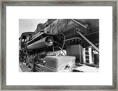 Steam Locomotive Side View Framed Print