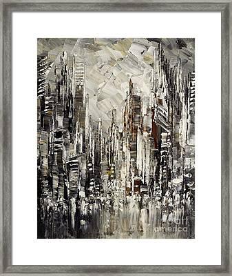Steam Over Gotham Framed Print by Tatiana Iliina