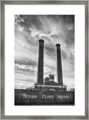Steam Plant Square Framed Print