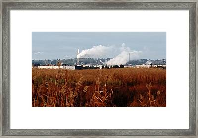 Steam Plants On Grizzly Bay Framed Print by Peggy Leyva Conley